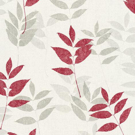 Papier peint intissé 372613 Blooming - Papier peint palmier Beige/Crème Gris Blanc - 10,05 x 0,53 m