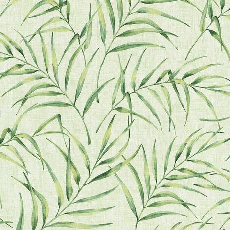 Papier peint intissé 373353 Greenery - Papier peint palmier Vert - 10,05 x 0,53 m