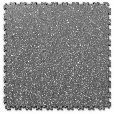 "Dalle PVC garage Fortelock Industry Print ""Skin Graphite 02"" - 50 x 50 cm (4 dalles = 1 m²)"