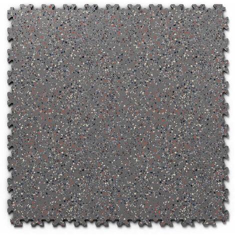 "Dalle PVC garage Fortelock Industry Print ""Skin Graphite 04"" - 50 x 50 cm (4 dalles = 1 m²)"
