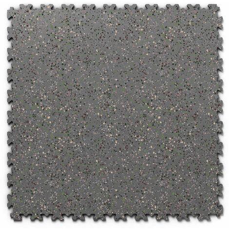 "Dalle PVC garage Fortelock Industry Print ""Skin Graphite 05"" - 50 x 50 cm (4 dalles = 1 m²)"
