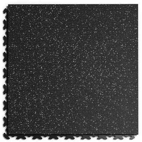 """Dalle PVC Garage Fortelock à joints invisibles Print ECO """"Noir 01"""" - 45,2 x 45,2 cm"""