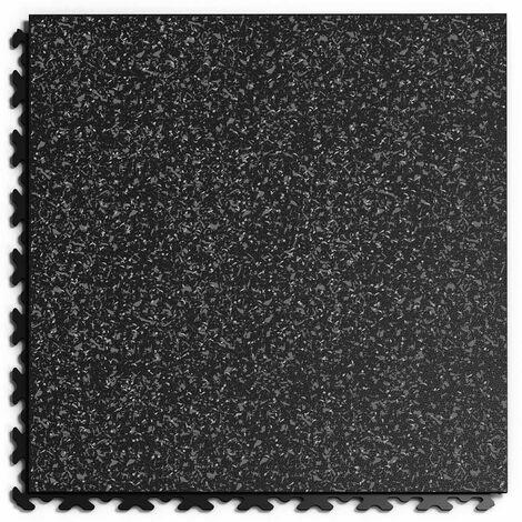 """Dalle PVC Garage Fortelock à joints invisibles Print """"Noir 02"""" - 45,2 x 45,2 cm"""