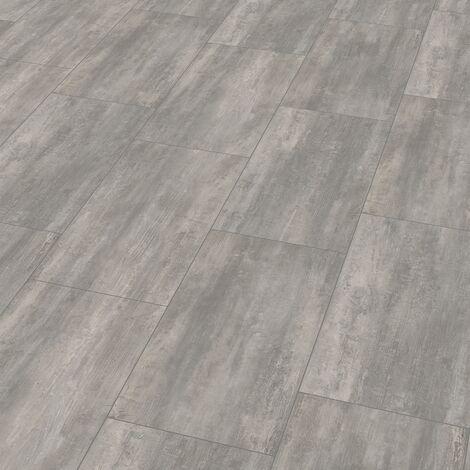 "Wineo 400 Stone | Dalle PVC clipsable hybride ""Courage Stone Grey"" - 60,1 x 31 cm"