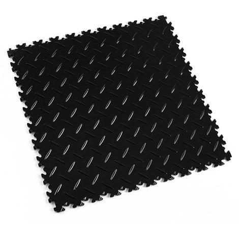 """Dalle PVC garage Fortelock Light 2050 """"Diamond Noir"""" - 50 x 50 cm (4 dalles = 1 m²)"""