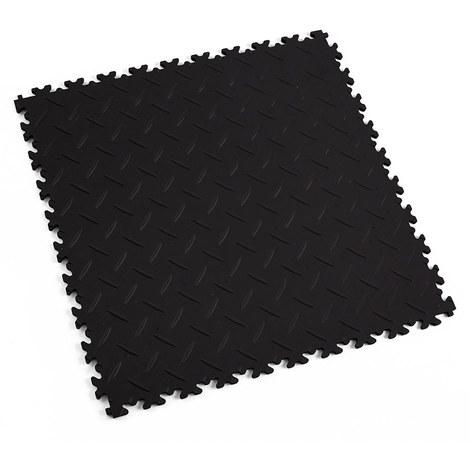 """Dalle emboîtable pour garage Fortelock 2010 ECO """"Diamond Noir"""" - 50 x 50 cm (4 dalles = 1 m²)"""