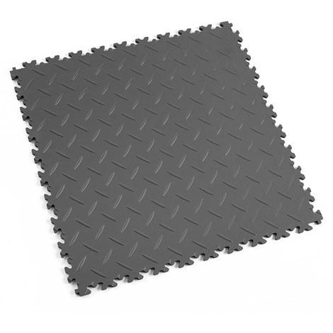 "Dalle PVC garage Fortelock Industry 2010 ""Diamond Graphite"" - 50 x 50 cm (4 dalles = 1 m²)"
