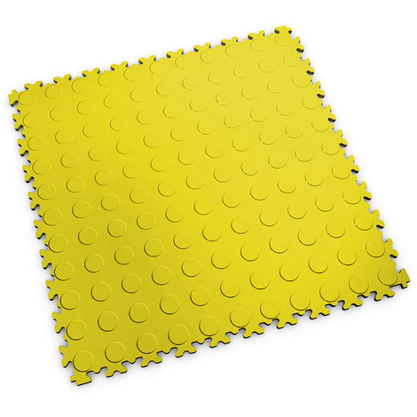 "Dalle PVC garage Fortelock Industry 2040 ""Pastille Jaune"" - 50 x 50 cm (4 dalles = 1 m²)"