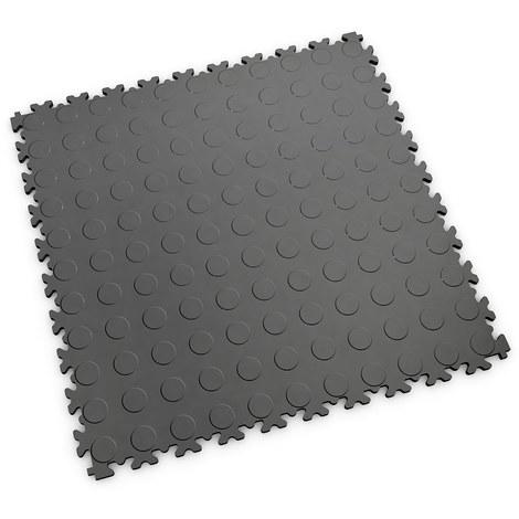 "Dalle PVC garage Fortelock Industry 2040 ""Pastille Graphite"" - 50 x 50 cm (4 dalles = 1 m²)"