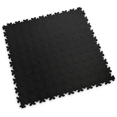 """Dalle PVC garage Fortelock Light 2080 """"Pastille Noir"""" - 50 x 50 cm (4 dalles = 1 m²)"""