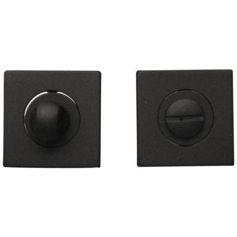 Rosaces de fonction Conda/Déconda en métal noir carrée, BRUNELLA