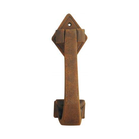 Heurtoir PENDENTIF, en fer forgé finition rouille, rustique