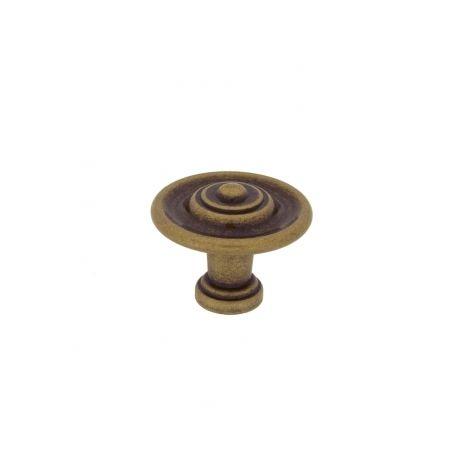 Bouton de porte et tiroir de meuble en laiton Ø30mm, RUSTIQUE