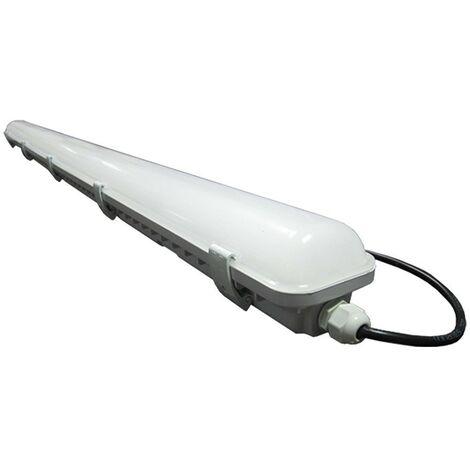 Boitier LED étanche 36W PC/PC 1200mm   Température de Couleur: Blanc froid 6000K
