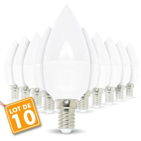 Lot de 10 Réflecteur  R50 LED Culot E14 6W eq 50W 480 lumens Blanc Chaud 3000K