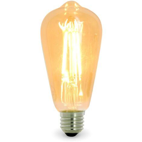 Lot de 2 ampoules LED vintage Edison G125 6 W E27 Blanc chaud 2200 K
