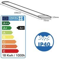 Réglette LED extra plate LINE 18W IP40 1800Lm 60cm | Température de Couleur: Blanc neutre 4000K