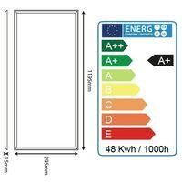Dalle lumineuse LED 48W 1200 x 300 mm garantie 2 ans Blanc Naturel   Température de Couleur: Blanc neutre 4000K