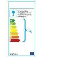 Applique torche anthracite ARLES E27