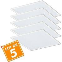 Lot de 5 Dalles lumineuse LED Pro 40W (400W) 600x600 - 50.000 heures   Température de Couleur: Blanc neutre 4000K