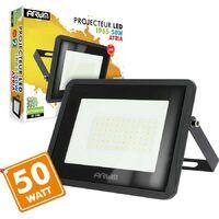 Projecteur LED 50W Forte luminosité 4000 Lumens de IP65   Température de Couleur: Blanc froid 6400K