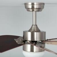 Ventilatore LED da Soffitto Orion Legno 81cm Motore DC