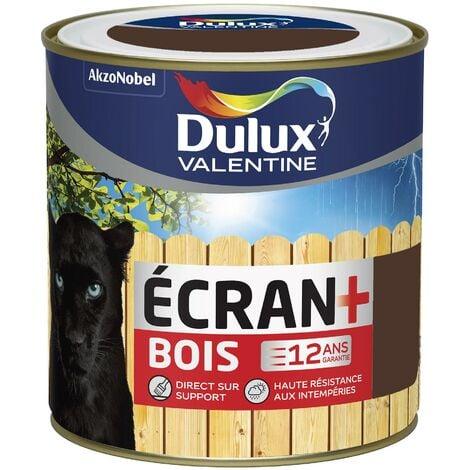 Peinture Ecran+ Bois Satin Brun Normandie 0,5 L - Dulux Valentine