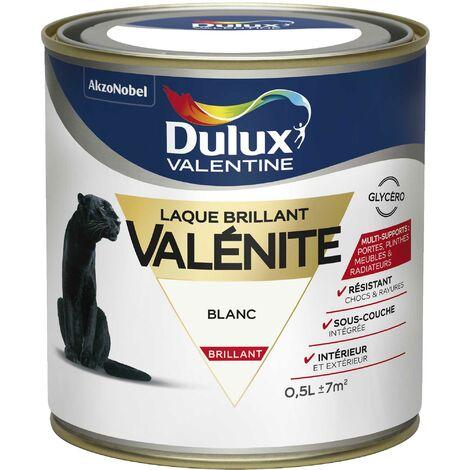 Peinture Laque Valénite Brillant Blanc 0,5 L - Dulux Valentine