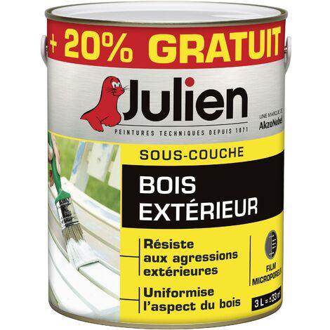 Sous-Couche Pour Bois Extérieur - aspect Mat Blanc 3L - Julien