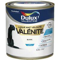 Peinture Laque Valénite Mat Blanc 0,5 L - Dulux Valentine