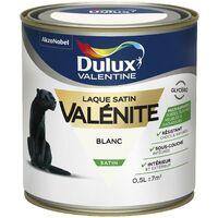 Peinture Laque Valénite Satin Blanc 0,5 L - Dulux Valentine
