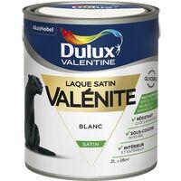 Peinture Laque Valénite Satin Blanc 2 L - Dulux Valentine