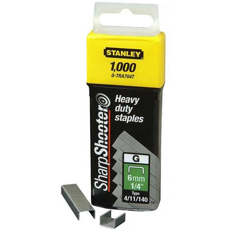 STANLEY Klammern Typ G (1000 Stück) für Elektro- und Handtacker - 10 mm