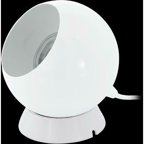 Eglo Petto 1 Lampada Da Tavolo Attacco Gu10 Colore Bianco 94513