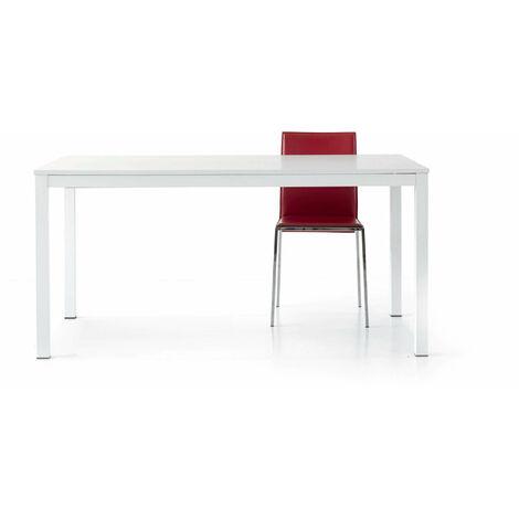 Tavolo Da Pranzo Moderno Di Design Allungabile Frassinato Con Struttura In Metallo 80 X 120 170