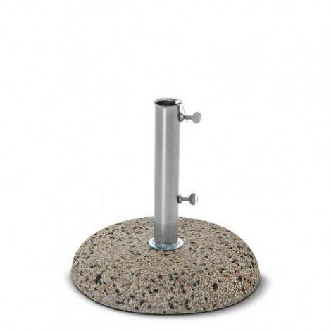 Festnight Base per Ombrellone Parasole in Cemento Nera Rotonda con Ruote,Support Ombrellone Rotond Cemento con Ruote 25 kg