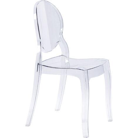 Sedia Moderna Di Design In Policarbonato Trasparente Per Sala Da Pranzo Cucina Ufficio Ristorante Bar