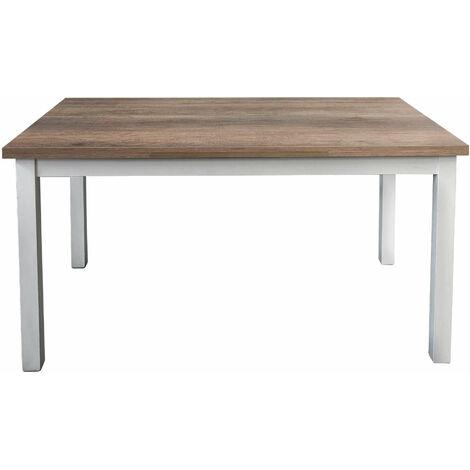 Tavolo Da Pranzo Moderno Di Design Allungabile Cm 80 X 130 170 210 Struttura Bianca Piano