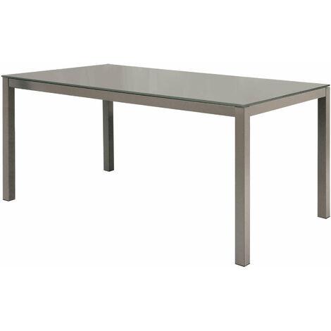Tavolo Da Pranzo Moderno Di Design Allungabile Cm 90 X 140 190 Tortora Con Piano In