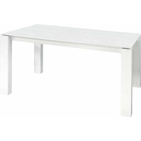Tavolo Da Pranzo Moderno Di Design Allungabile Rettangolare Cm 90 X 160 205 250 Bianco Per