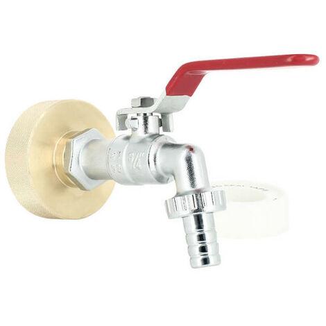 Raccord cuve eau S60X6 Laiton - Robinet laiton chromé 15 mm