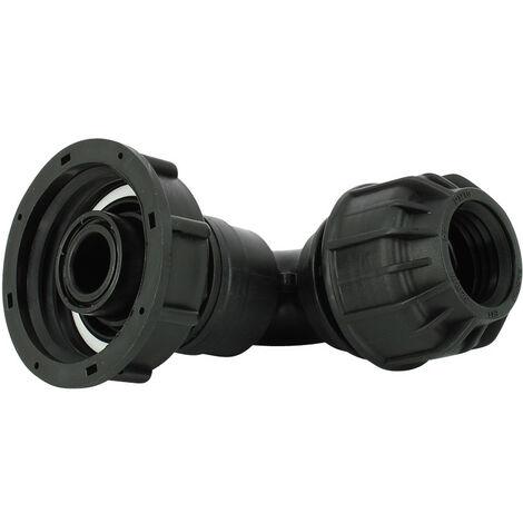 Raccord S60X6 cuve eau - Coudé pression Diamètre 32 mm