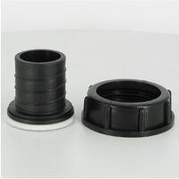 Raccord S60X6 cuve eau - Embout droit Diamètre 40 mm