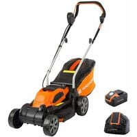 40V Li-Ion Battery Cordless 32cm Rotary Electric Lawnmower with Rear Roller by Yard Force