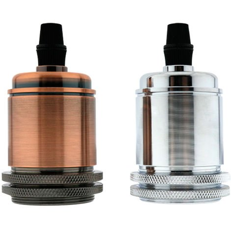 Portalámparas Minimal para E27 Cobre Cepillado | IluminaShop