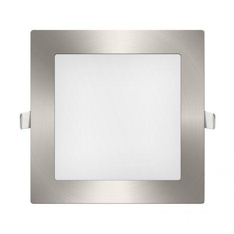 Downlight panel LED Cuadrado Niquel 12W Blanco Frío 6400K | IluminaShop