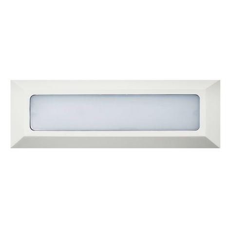 Baliza de Superficie Led Wall Long Rectangular Blanco 3.8W IP65 Blanco Cálido 3000K   IluminaShop