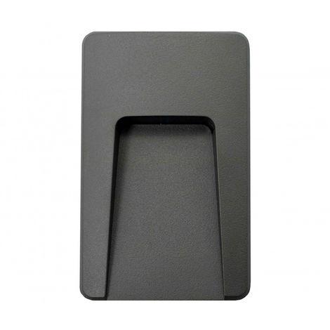 Baliza de Superficie Led Wall High Negro 3W IP65 Blanco Cálido 3000K | IluminaShop