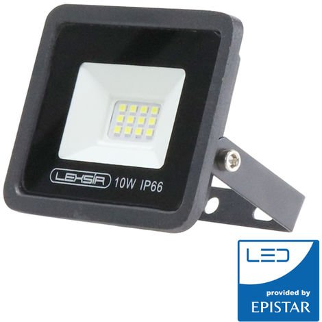 Foco Proyector LED SMD Lexsir 10W Regulable IP66 Blanco Frío 6000K | IluminaShop