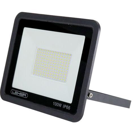 Foco Proyector LED SMD Lexsir 100W Regulable IP66 Blanco Frío 6000K | IluminaShop